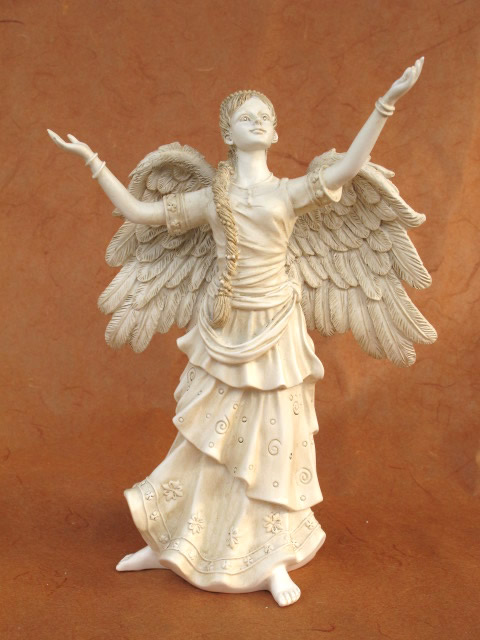 Statue d 39 ange simplicit ange gardien ange tombal sculpture d coration fun raire ebay - Statue d ange pour exterieur ...