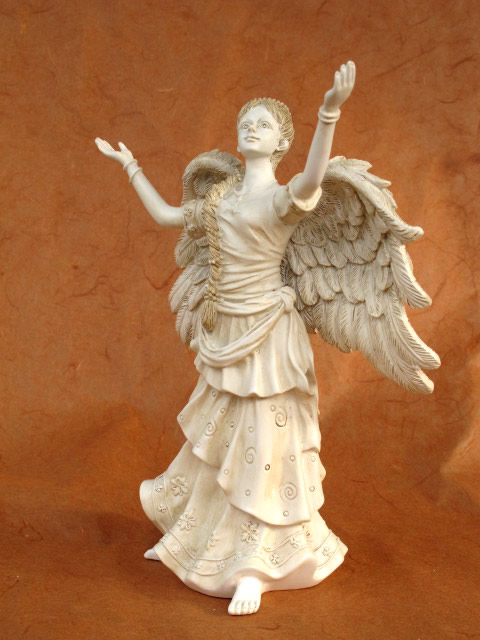 statue d 39 ange simplicit ange gardien ange tombal sculpture d coration fun raire ebay. Black Bedroom Furniture Sets. Home Design Ideas