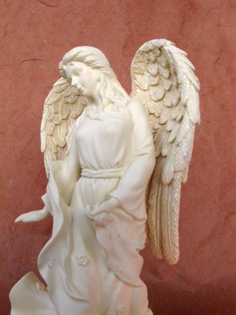 statue d 39 ange bravoure chandelier naissance bapt me d coration fun raire 20027 ebay. Black Bedroom Furniture Sets. Home Design Ideas