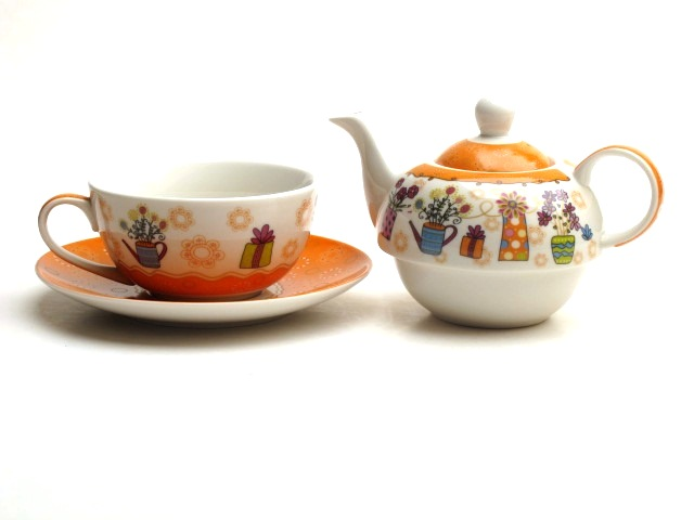 tea for one teekanne tasse aus porzellan teeset 20174b ebay. Black Bedroom Furniture Sets. Home Design Ideas