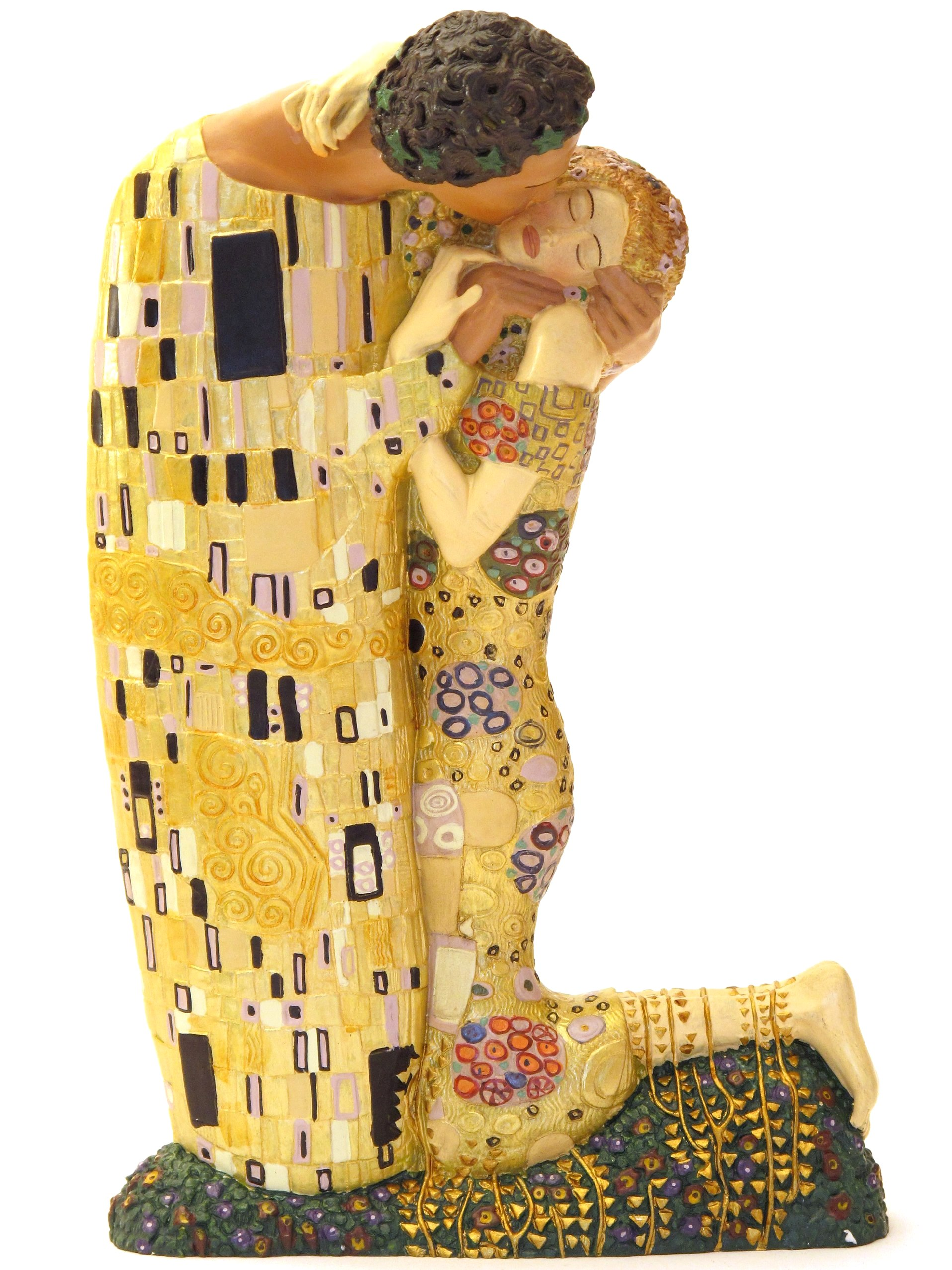 gustav klimt der kuss xl skulptur figur 20043c ebay. Black Bedroom Furniture Sets. Home Design Ideas